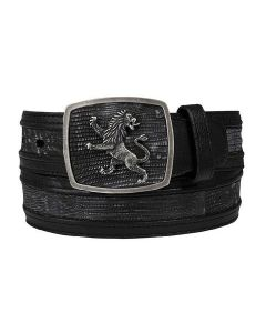 Cuadra Genuine Lizard Teju Fango Gray Belt CV9A4TL