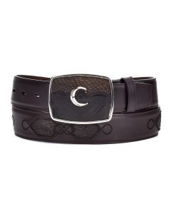Cuadra Men's Python Belt Cocoa CVQW4PH-CC