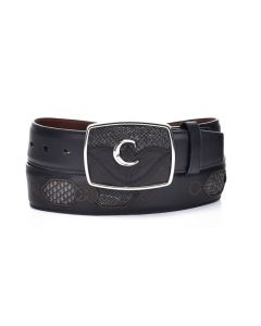 Cuadra Men's Python Belt Gray Mud CVQW4PH-FG