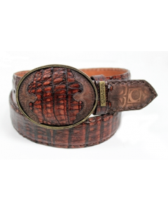 Cuadra Genuine Crocodile Lumber Whiskey Cowboy Belt CVET1FP